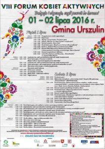 plakat VIII Forum Kobiet Aktywnych